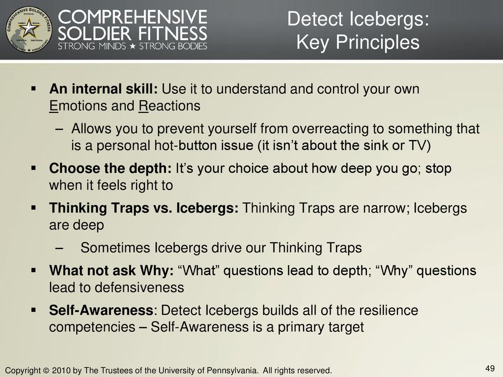 Detect Icebergs: Key Principles