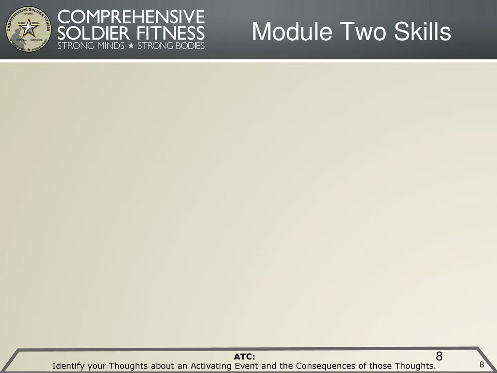 Module Two Skills Block Five MRT Trainer Instructions: