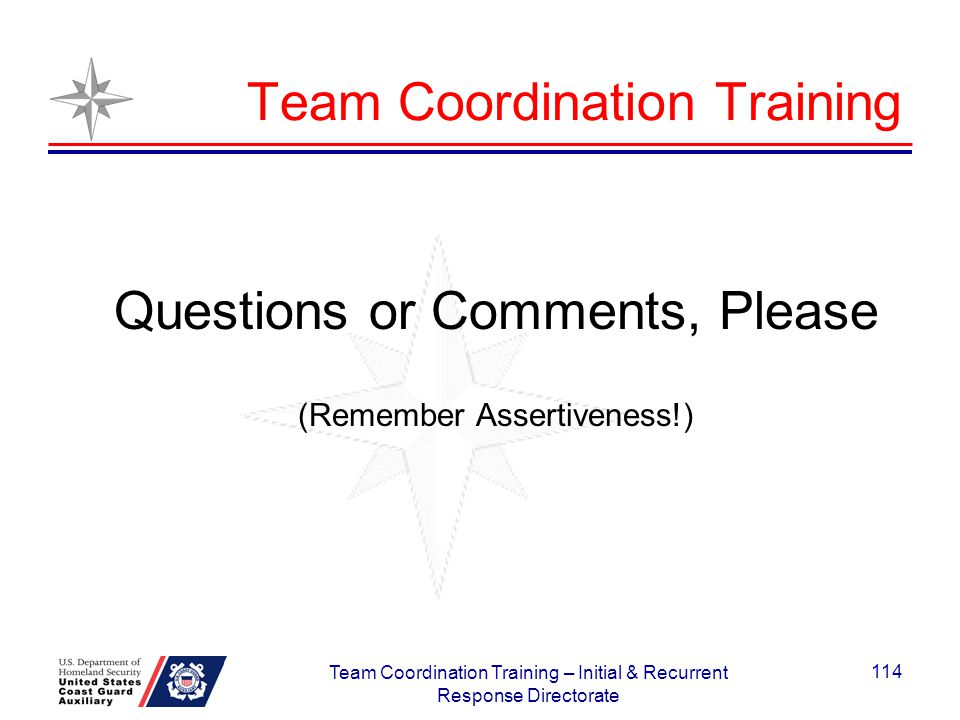 Team Coordination Training