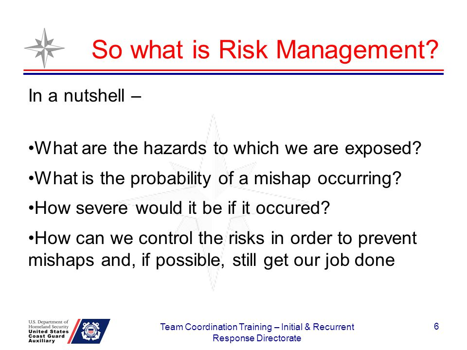 So what is Risk Management