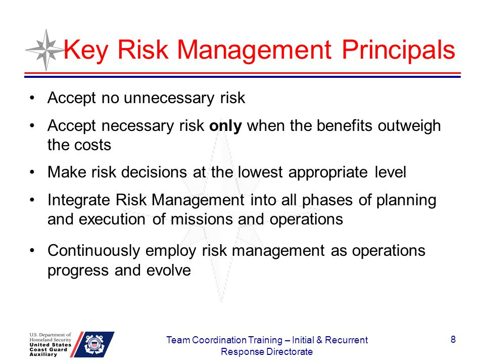 Key Risk Management Principals