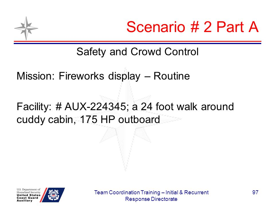 Scenario # 2 Part A Safety and Crowd Control
