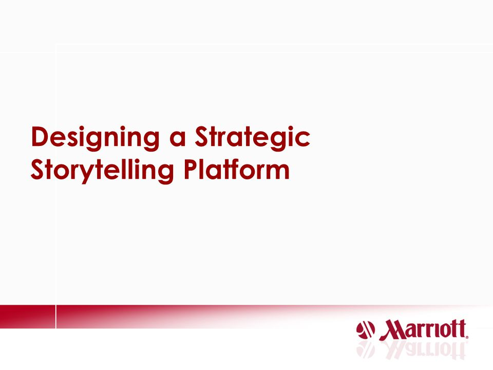Designing a Strategic Storytelling Platform