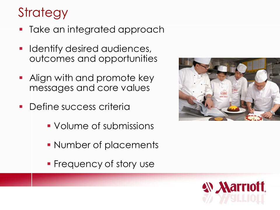 Strategy Take an integrated approach