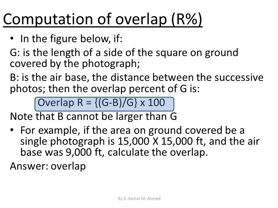 Computation of overlap (R%)