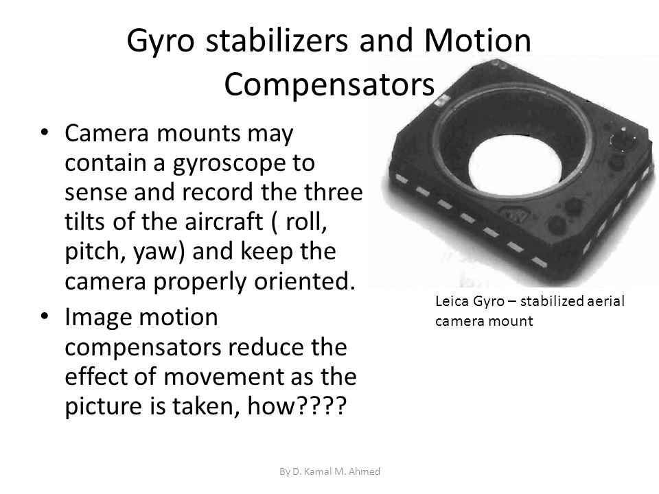 Gyro stabilizers and Motion Compensators