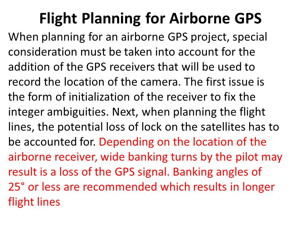 Flight Planning for Airborne GPS
