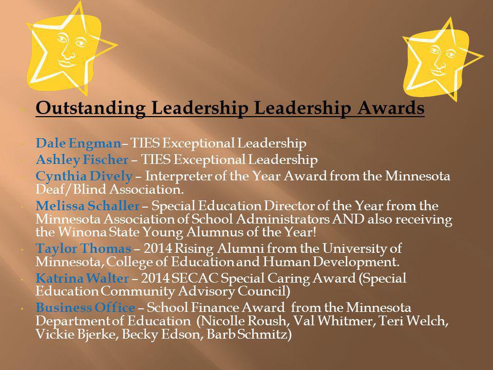 Outstanding Leadership Leadership Awards