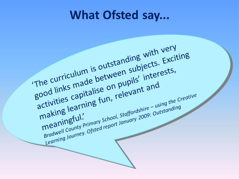 What Ofsted say...