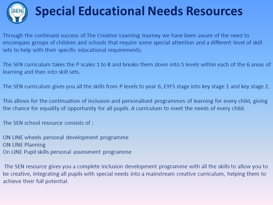 Special Educational Needs Resources