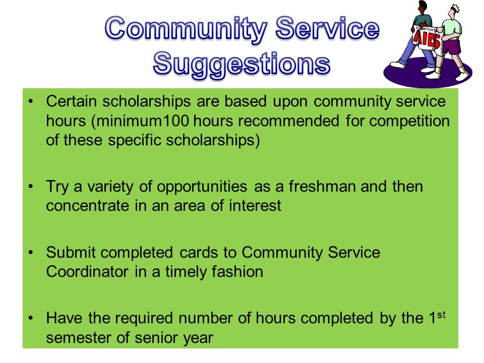 Community Service Suggestions