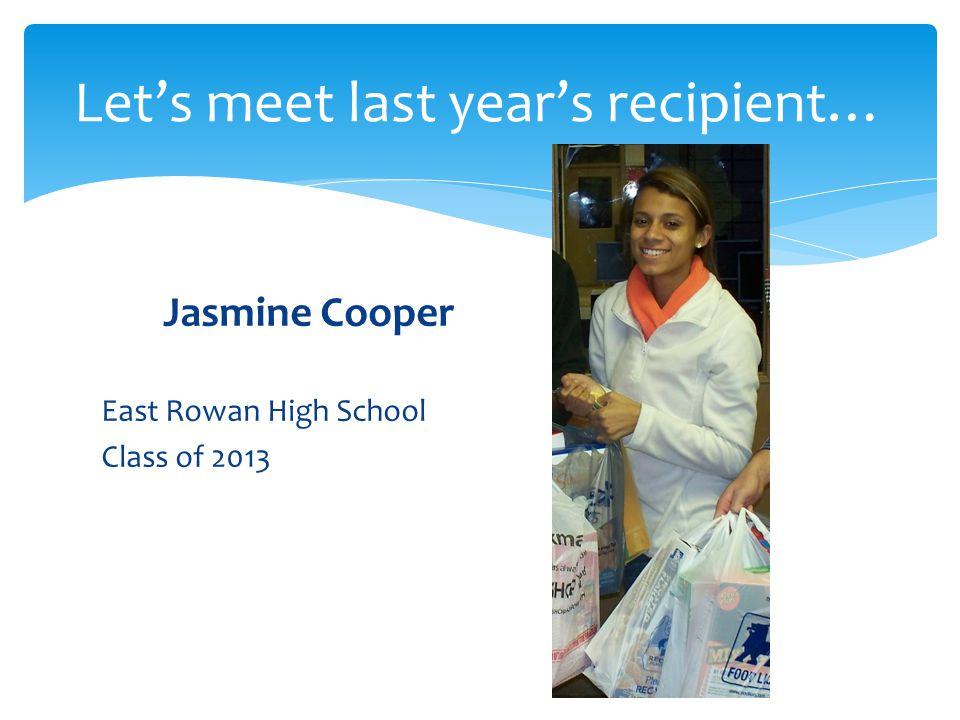 Let's meet last year's recipient…
