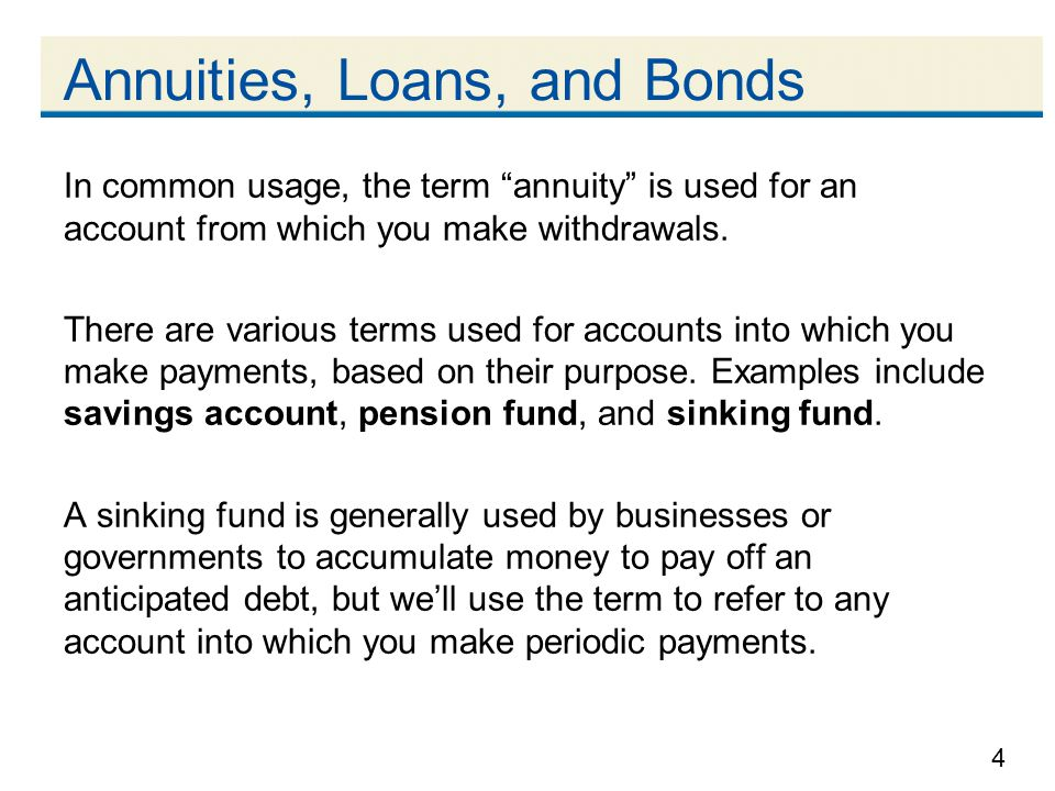 Annuities, Loans, and Bonds