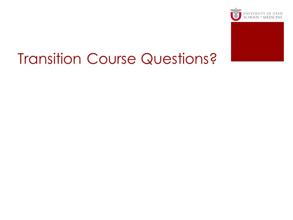 Transition Course Questions