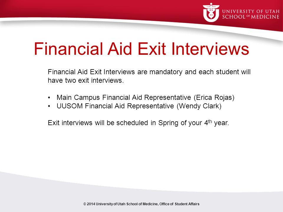 Financial Aid Exit Interviews