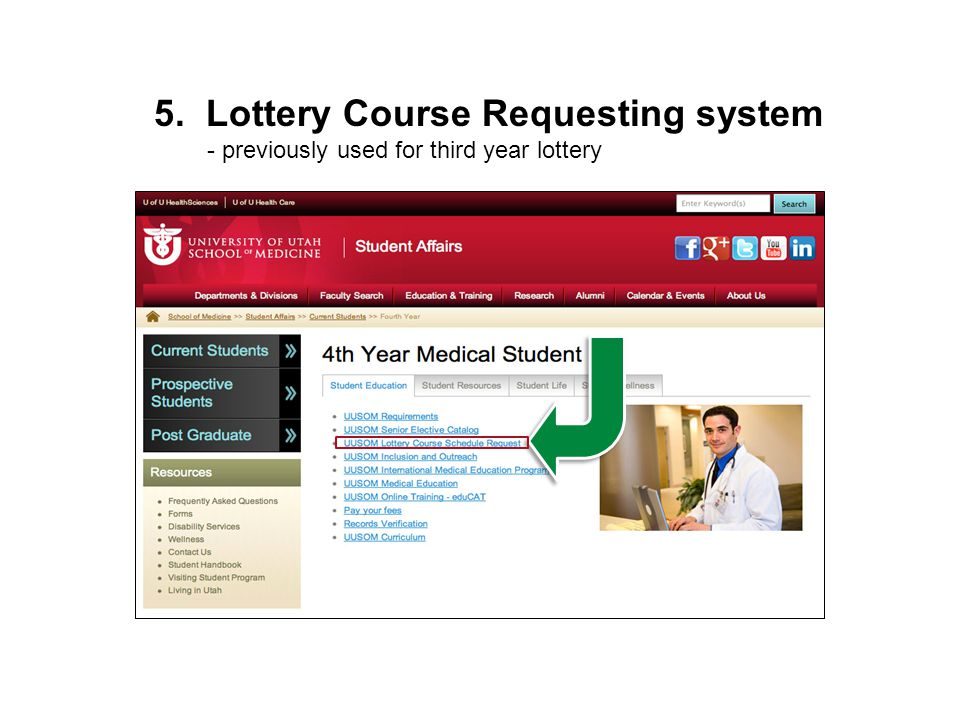 5. Lottery Course Requesting system