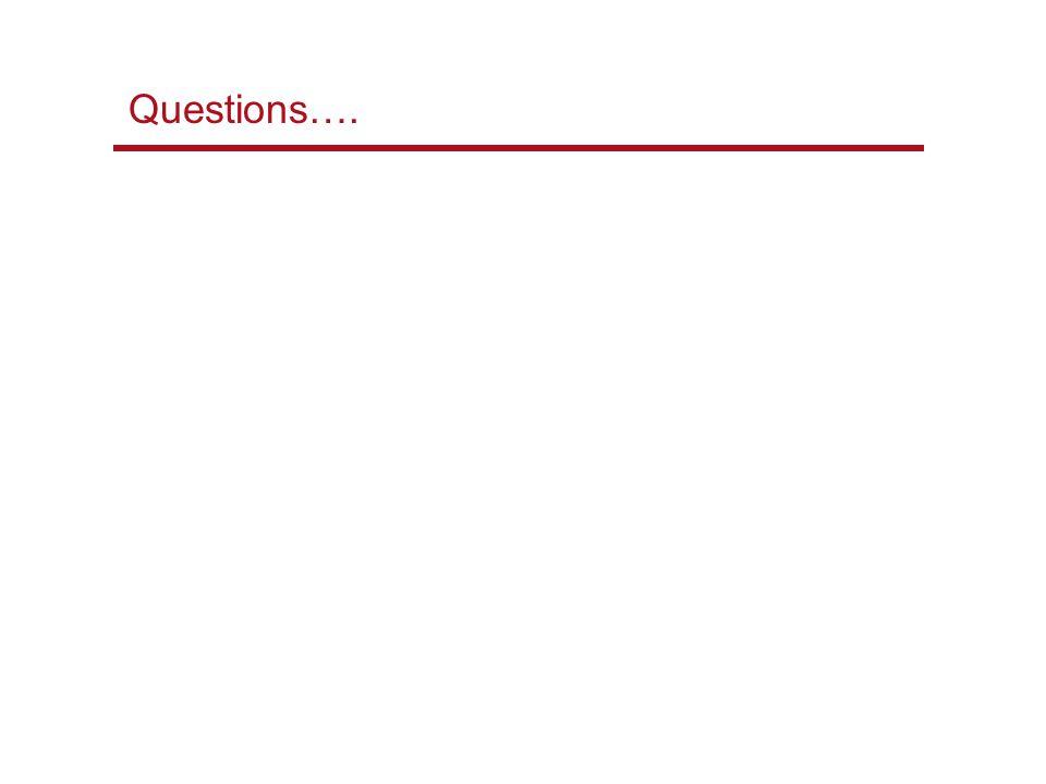 Questions….