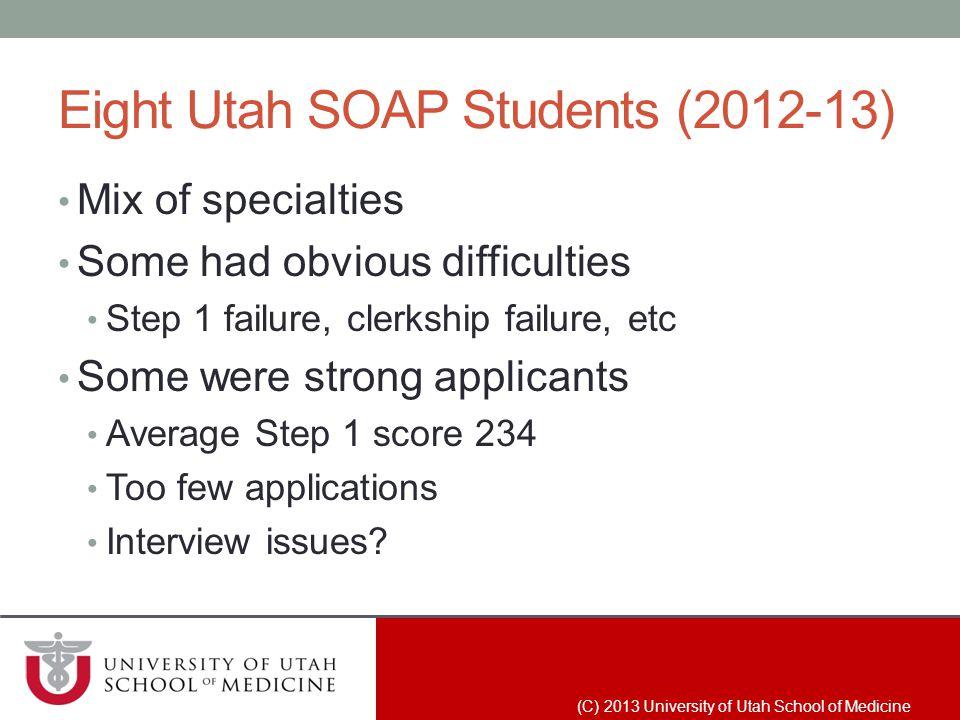 Eight Utah SOAP Students (2012-13)