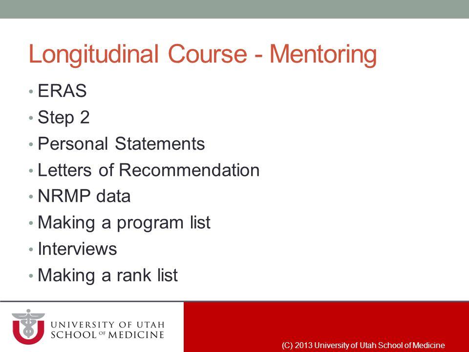 Longitudinal Course - Mentoring