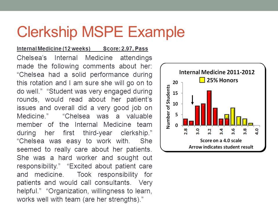 Clerkship MSPE Example