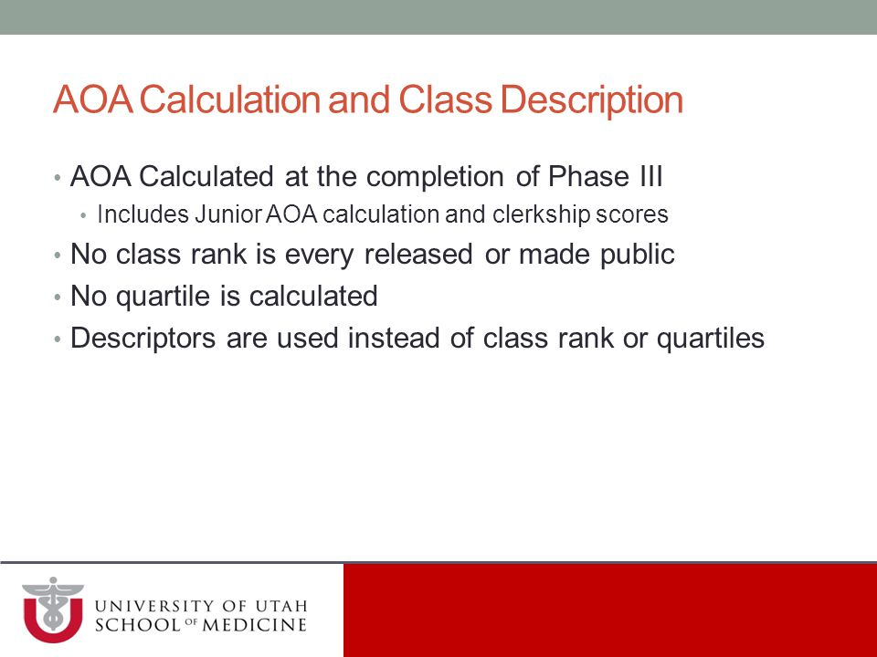 AOA Calculation and Class Description