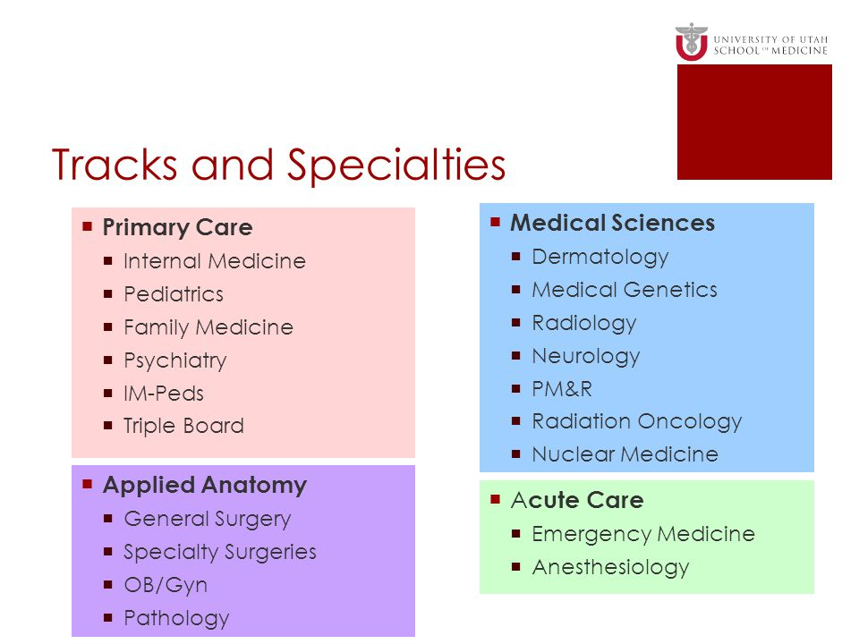 Tracks and Specialties