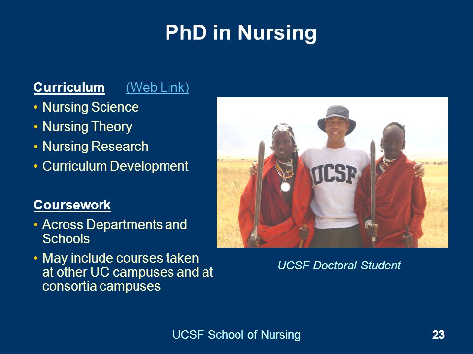 PhD in Nursing Curriculum (Web Link) Nursing Science Nursing Theory
