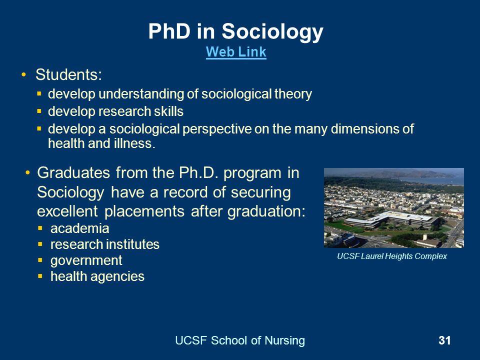 PhD in Sociology Web Link