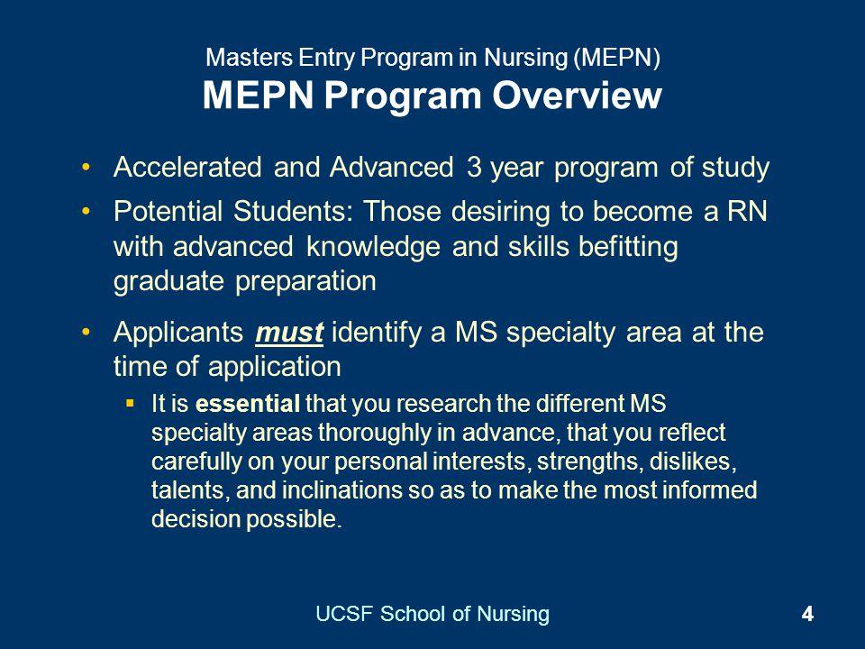 Masters Entry Program in Nursing (MEPN) MEPN Program Overview