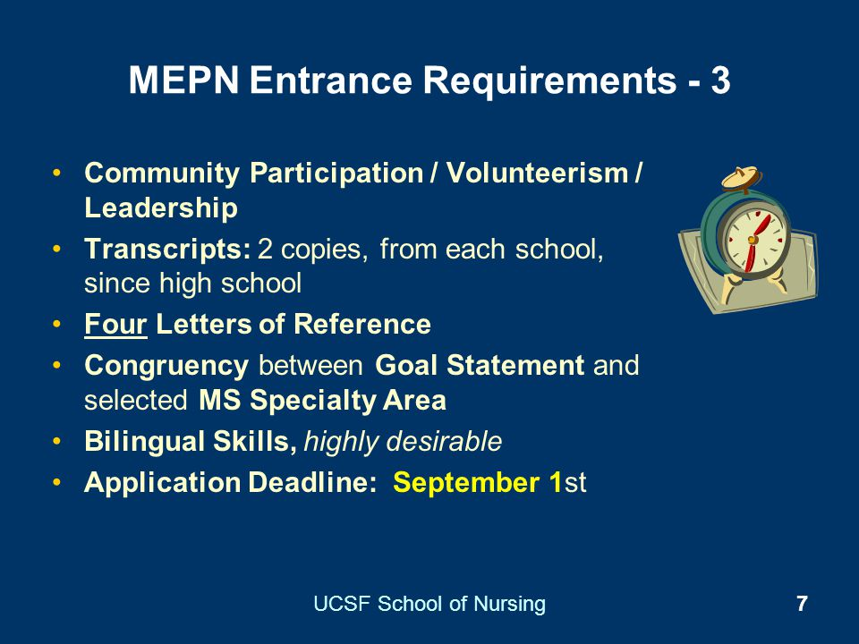 MEPN Entrance Requirements - 3
