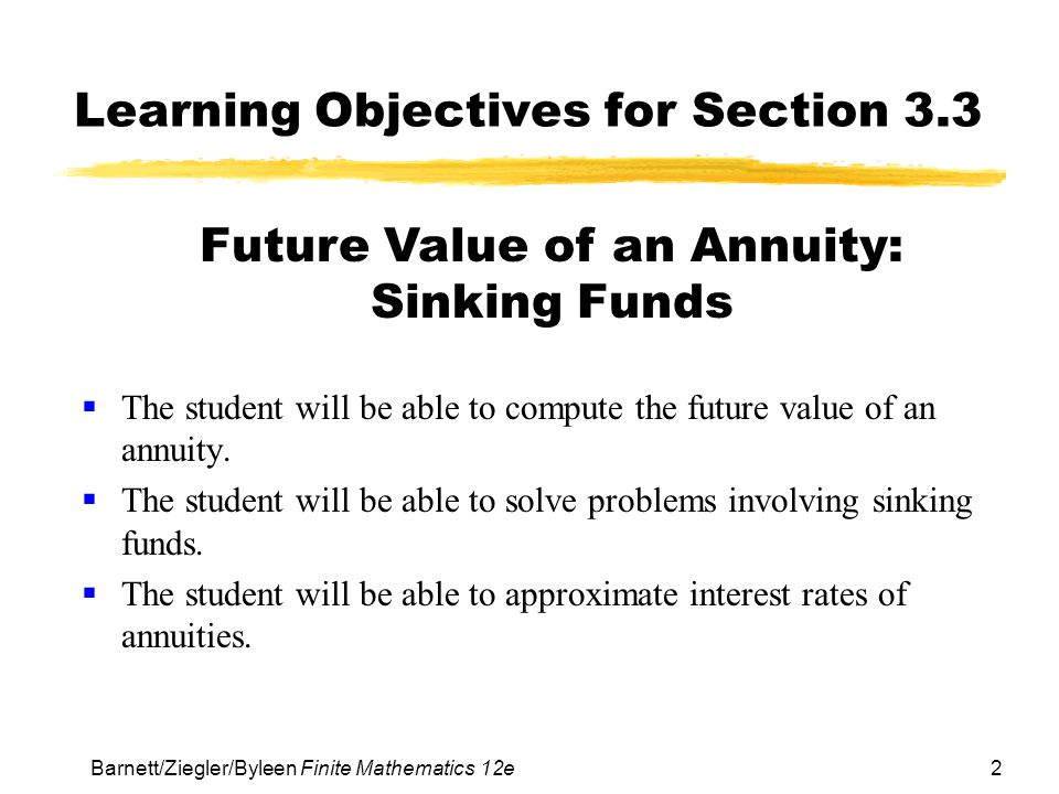 Learning Objectives for Section 3.3