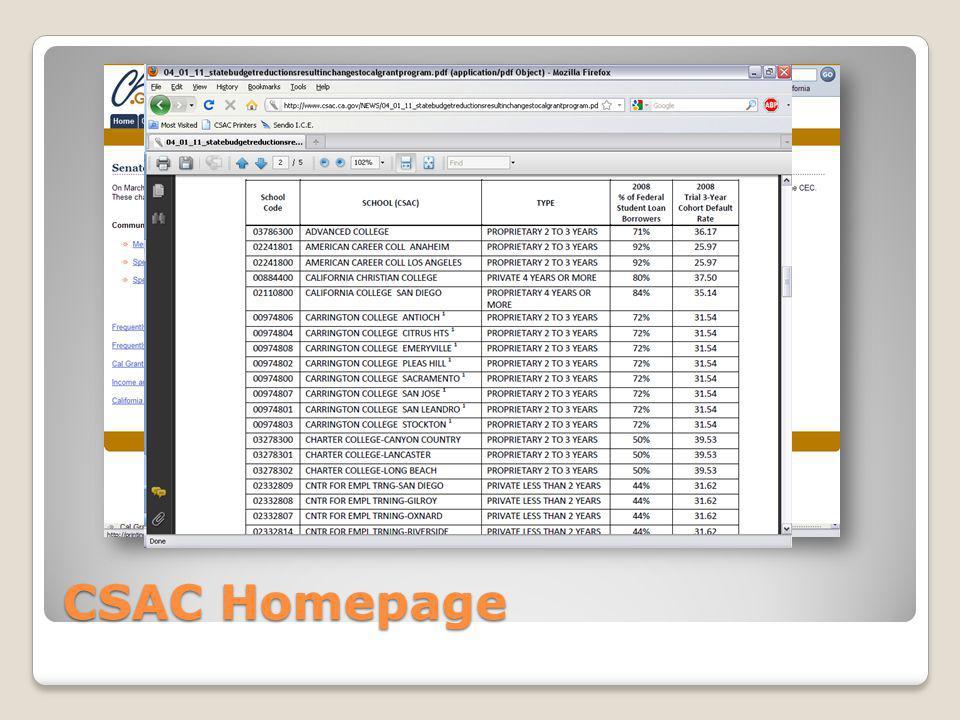 CSAC Homepage