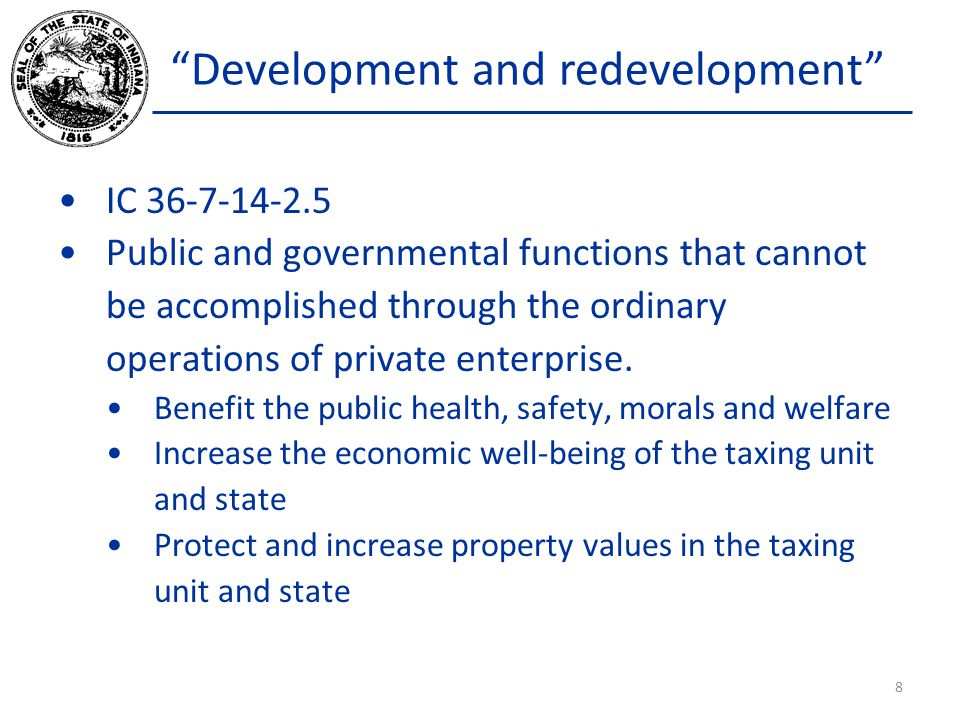 Development and redevelopment