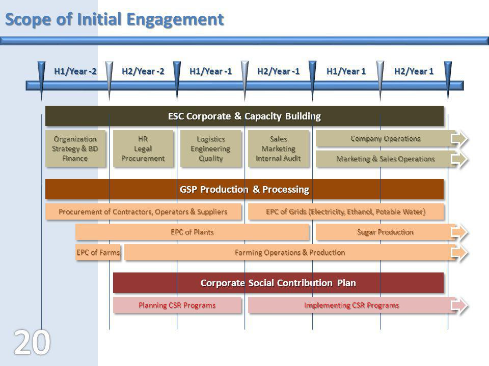Scope of Initial Engagement