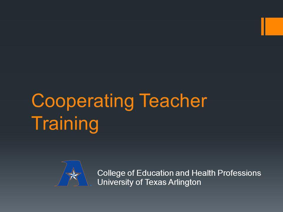 Cooperating Teacher Training
