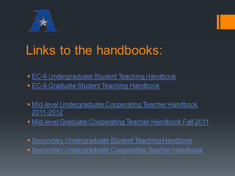 Links to the handbooks: