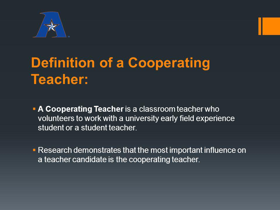 Definition of a Cooperating Teacher: