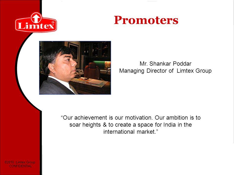Mr. Shankar Poddar Managing Director of Limtex Group