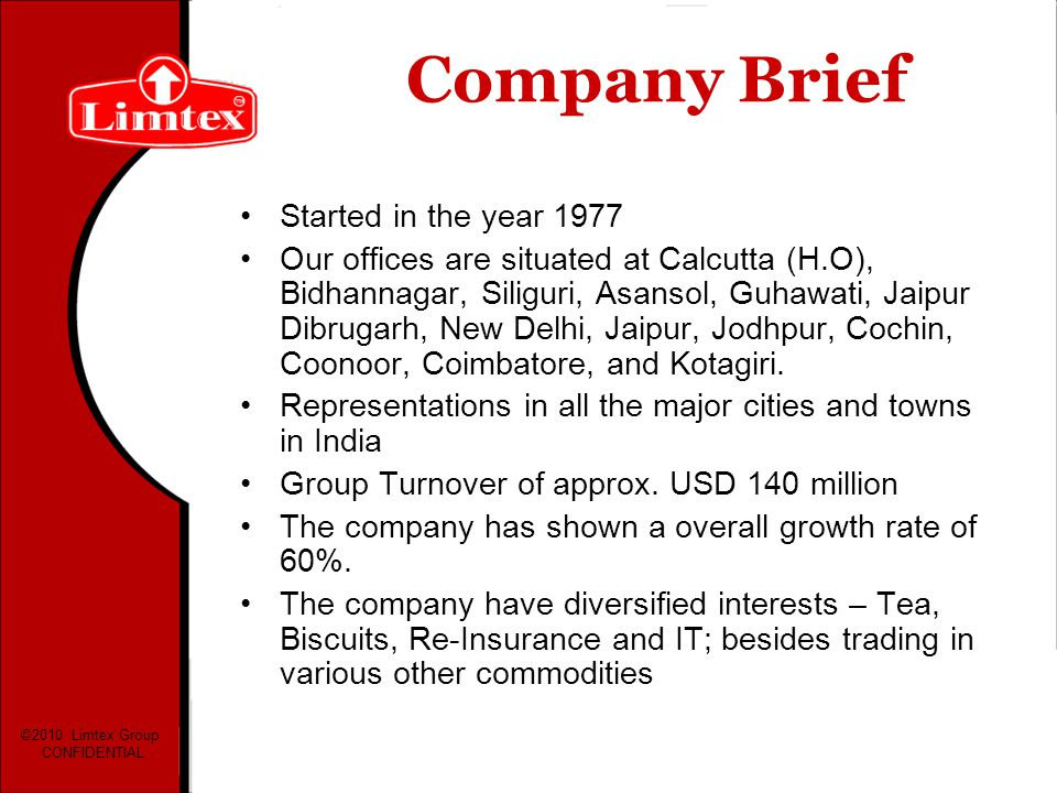 Company Brief Started in the year 1977