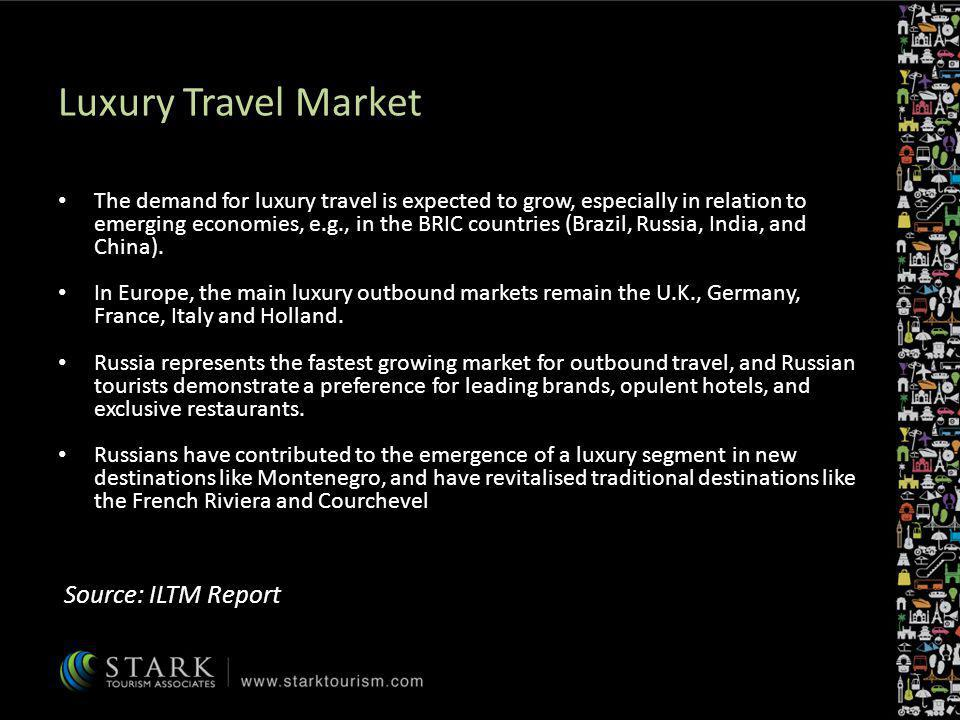 Luxury Travel Market Source: ILTM Report