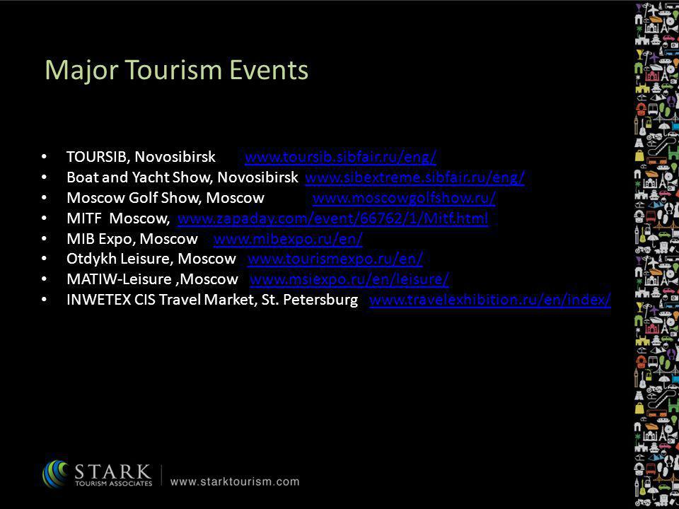 Major Tourism Events TOURSIB, Novosibirsk www.toursib.sibfair.ru/eng/