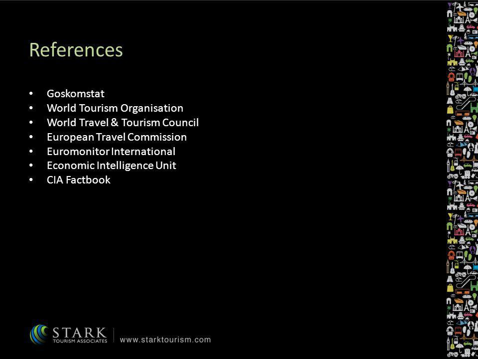References Goskomstat World Tourism Organisation