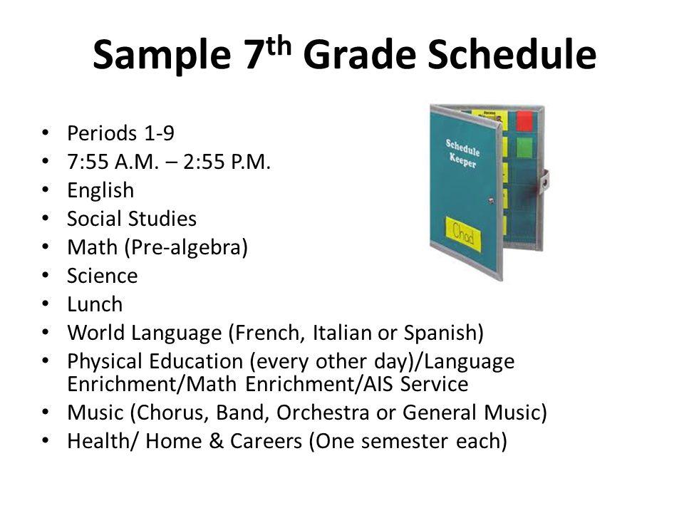 Sample 7th Grade Schedule