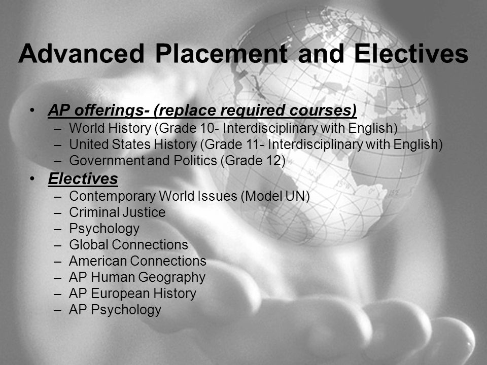 Advanced Placement and Electives