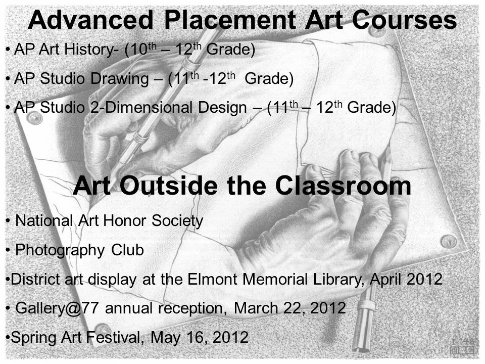 Advanced Placement Art Courses Art Outside the Classroom