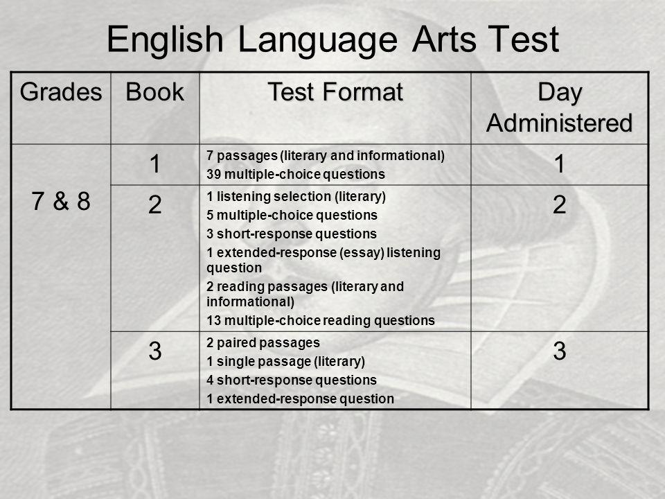 English Language Arts Test