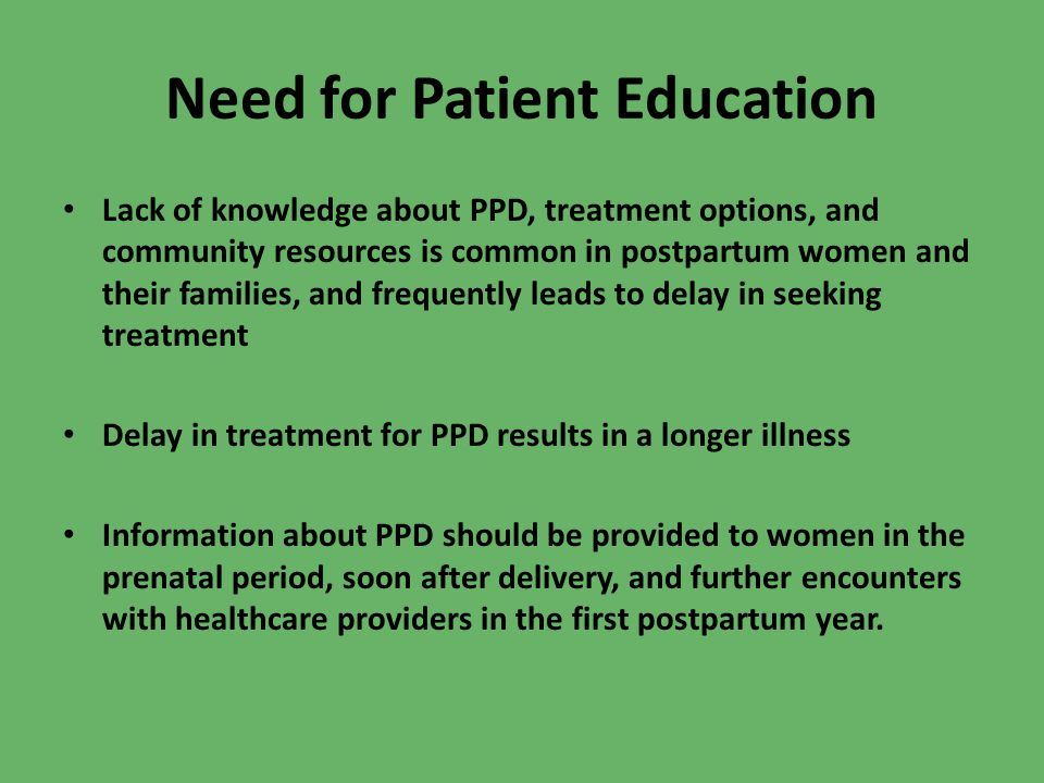 Need for Patient Education