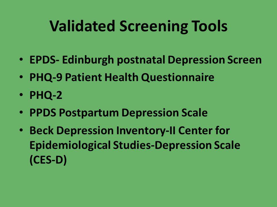 Validated Screening Tools
