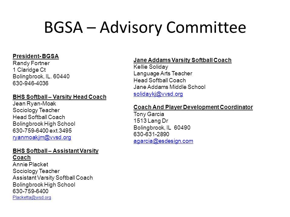 BGSA – Advisory Committee