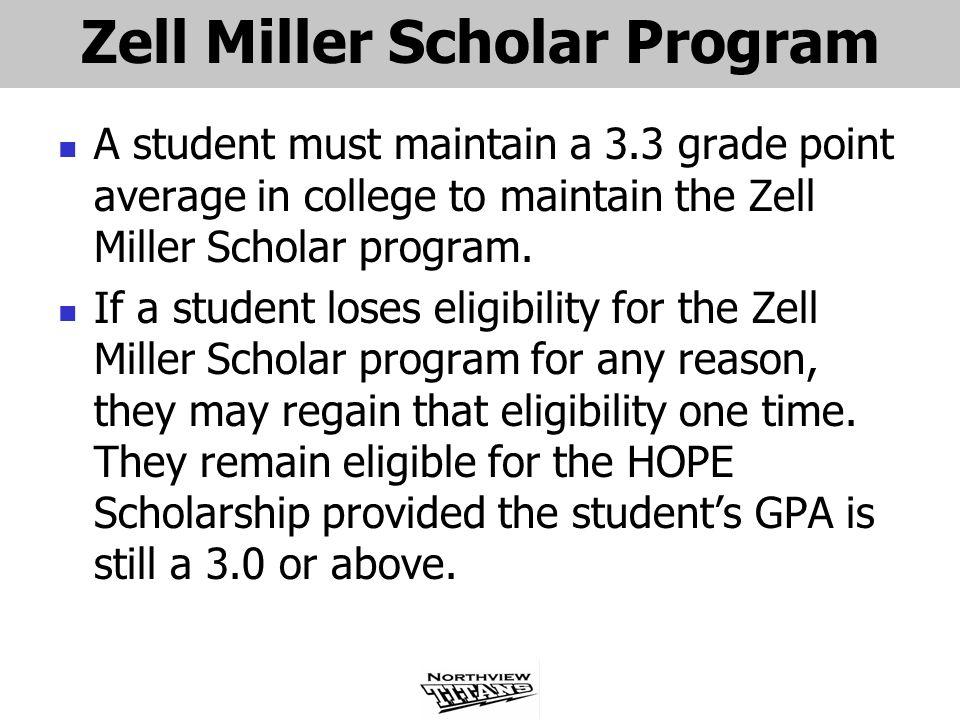 Zell Miller Scholar Program